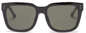 Linda Farrow Freya Square Recycled-acetate Sunglasses - Black