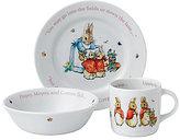 Wedgwood Peter Rabbit Baby Girls 3-Piece Dish Set