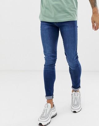 APT super skinny jeans in mid blue
