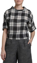 H Fredriksson Plaid Worsted Wool Top