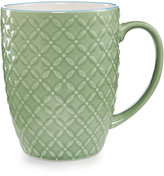 Certified International Chelsea Collection Embossed Green/Multi Floral Mug