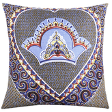 Found Object African Wax Resist Cotton Throw Pillow
