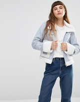 Urban Code Urbancode Faux Shearling Aviator Jacket With Oversize Pockets