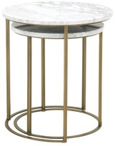 Three Posts Derwent 2 Piece Nesting Tables Table Base Color: Brushed Stainless Steel