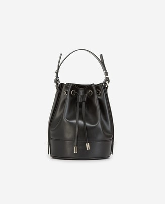 The Kooples Medium Tina bag in smooth black leather
