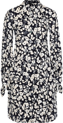 Derek Lam Floral-print Silk-jacquard Shirt Dress