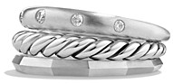 David Yurman Stax Narrow Ring with Diamonds