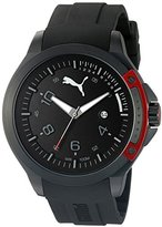 Puma Unisex PU104011001 Pioneer black red Analog Display Watch