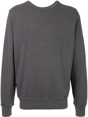Stone Island Tonal Logo-Print Sweatshirt
