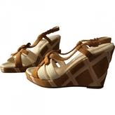 Salvatore Ferragamo White Leather Sandals