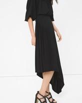 White House Black Market Asymmetric Pleat-Waist Maxi Skirt
