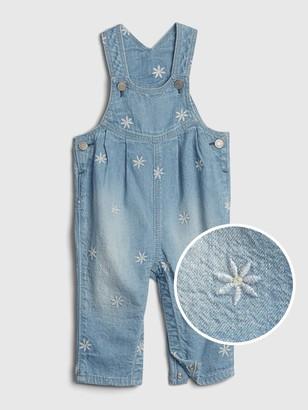 Gap Baby Embroidered Denim Overalls