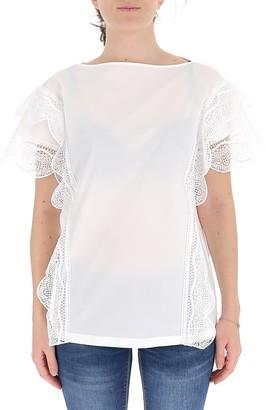 Alberta Ferretti Lace Sleeve T-Shirt