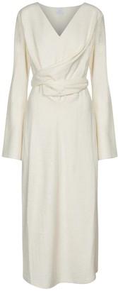 Deveaux Yvette wool-blend boucle midi dress