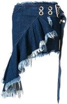 Marques Almeida Marques'almeida frayed asymmetric denim skirt