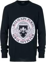 Balmain fine knit logo jumper