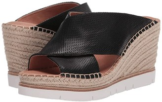 Kenneth Cole Gentle Souls by Elyssa X-Band Slide 2 (Black Leather) Women's Shoes