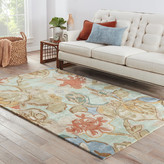 Andover Mills Roswell Aqua Foam Floral Area Rug Rug