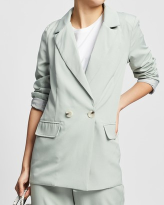 Missguided Women's Green Blazers - Co-Ord Longline Blazer - Size 8 at The Iconic