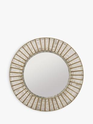 Libra Aurora Round Mirror, Antique Silver/Gold, Dia.60cm