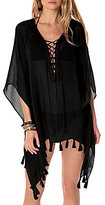 Becca by Rebecca Virtue Wanderer Lace-Up Tunic Cover-Up