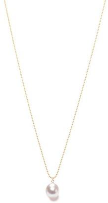 Ora Pearls White Pearl Drop Pendant Gold Chain