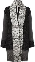 Antonio Marras 'Snake Print Patterned' cardi-coat
