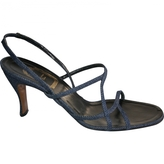 Christian Dior Blue Cloth Sandals