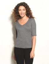 dressbarn roz&ALI Ribbed V-Neck Sweater