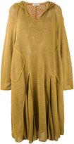 Lacoste mesh hooded dress - women - Cotton - 36