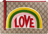 Gucci Rainbow soft GG Supreme pouch