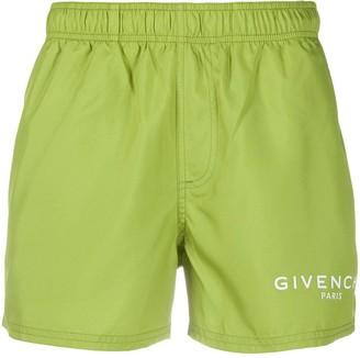 Givenchy Logo-Print Swim Shorts