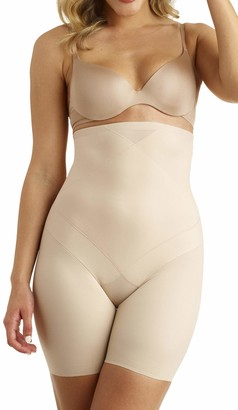 Miraclesuit Premium Womens Shapewear Smooth High Waisted Triple Panel Tummy Tuck Shaping Thigh Slimmer