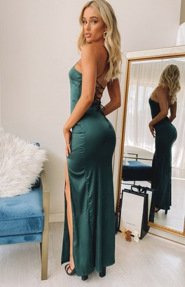 Bb Exclusive Hollywood Maxi Formal Dress Emerald