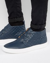 Steve Madden Quicker Leather Chukka Trainers