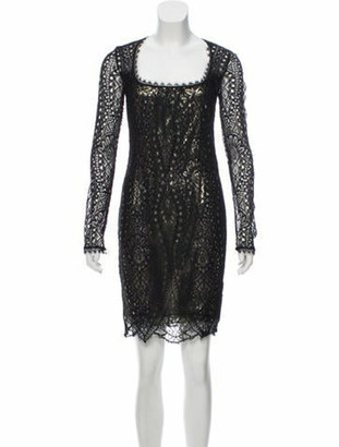 Emilio Pucci Lace Sheath Dress Black