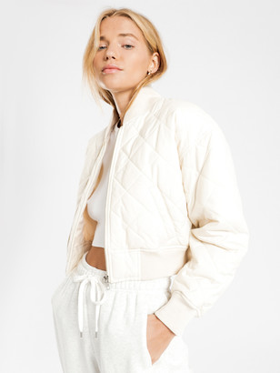 Nude Lucy Classic Bomber Jacket in Chalk