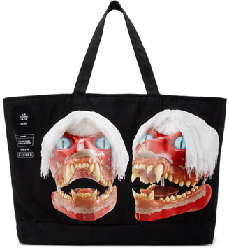 S.R. STUDIO. LA. CA. Black ED. 50 Jumbo White Haired Red Skull Tote