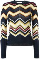 Vanessa Bruno chevron knit jumper