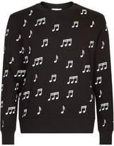 Sandro Note Print Sweater