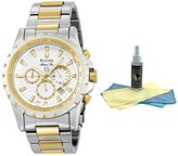 Bulova Men's Two Tone Marine Star Chronograph Watch 98B014 with 30ml Ultimate Watch Cleaning Kit