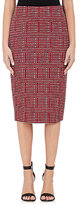 Victoria Beckham WOMEN'S TWEED-FRONT FITTED PENCIL SKIRT-BLACK SIZE 10 UK