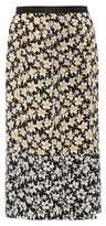 Joseph Floral-printed silk skirt