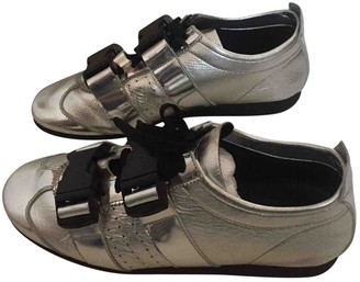 J.W.Anderson Silver Leather Trainers