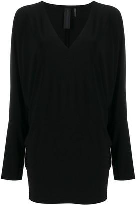 Norma Kamali V-neck dolman-sleeve T-shirt