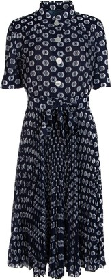 Prada Pleated Printed Dress
