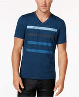 INC International Concepts Men's Striped V-Neck T-Shirt, Created for Macy's