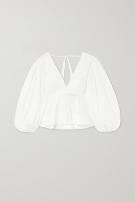 SOLACE London Carlenne Ruffled Cotton-poplin Blouse - White