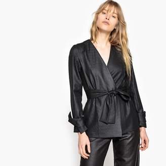La Redoute Collections Metallic Look Tie Waist Jacket