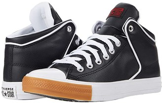 Converse Chuck Taylor All Star High Street Synthetic Leather Hi (Black/University Red/Honey) Athletic Shoes